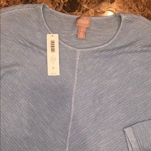 Chico's blue top NWT SIZE 0